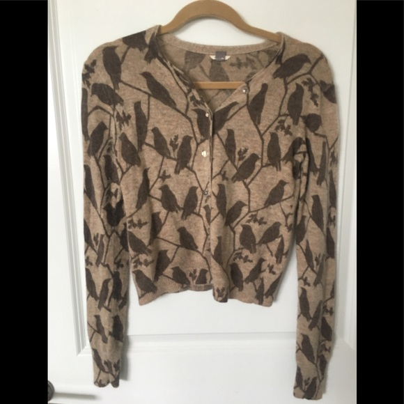 Fossil Sweaters - Fossil Button-Up Bird Sweater